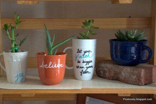 10+ Increíble Jardines con Taza de Té y de Café