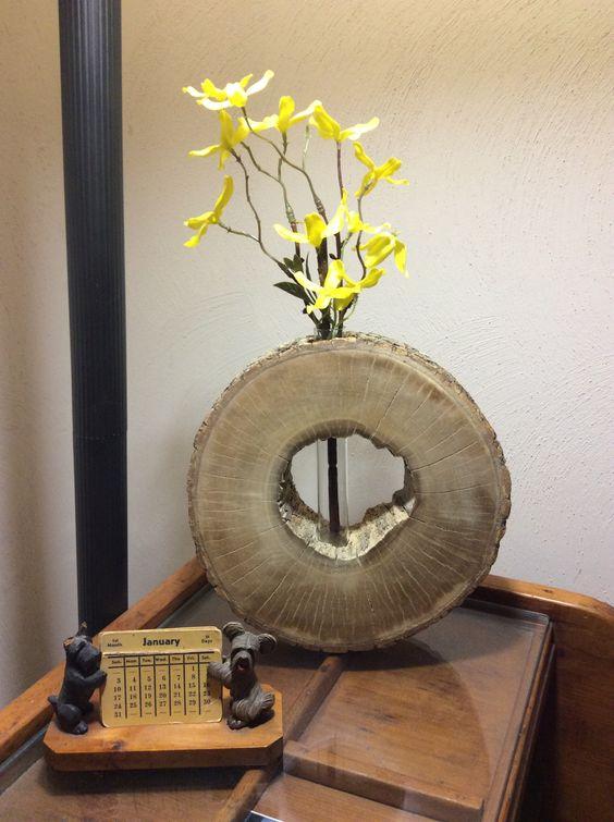 20 maravillosos jarrones decorativos con tocn de rbol - Jarrones Decorativos