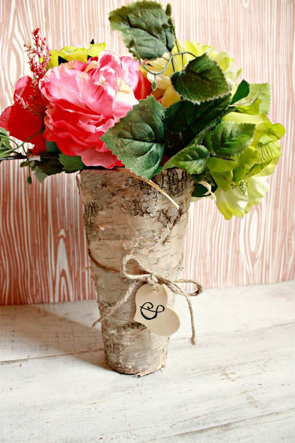 20+ Maravillosos Jarrones Decorativos con Tocón de Árbol