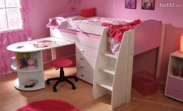 15+ Hermosas Camas de las Niñas que Combina el Sueño y el Almacenamiento