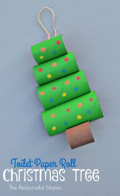 15+ Increíbles Manualidades Navideñas con Rollos de Papel