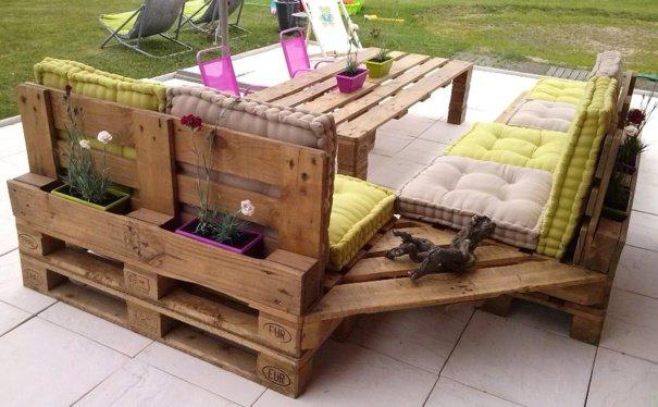 20+ Extraordinarios Muebles de Jardín Hechos con Palets