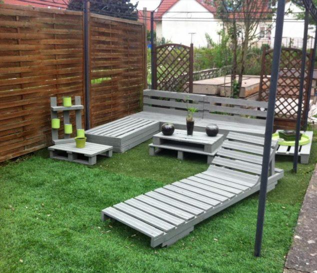 20 extraordinarios muebles de jardn hechos con palets - Muebles De Jardin Con Palets