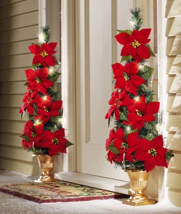 15 sensacional decoraci n de puerta de entrada para navidad - Decoracion navidena exterior ...