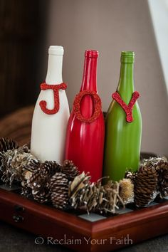 25+ Ideas Creativas para Reciclar Botellas de Vino Para Decorar El Otoño