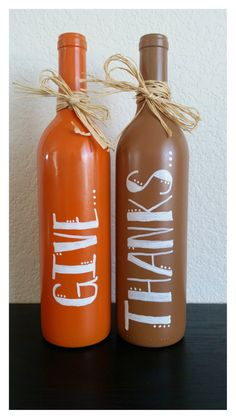25+ Ideas Creativas para Reciclar Botellas de Vino Para Decorar El Otoño
