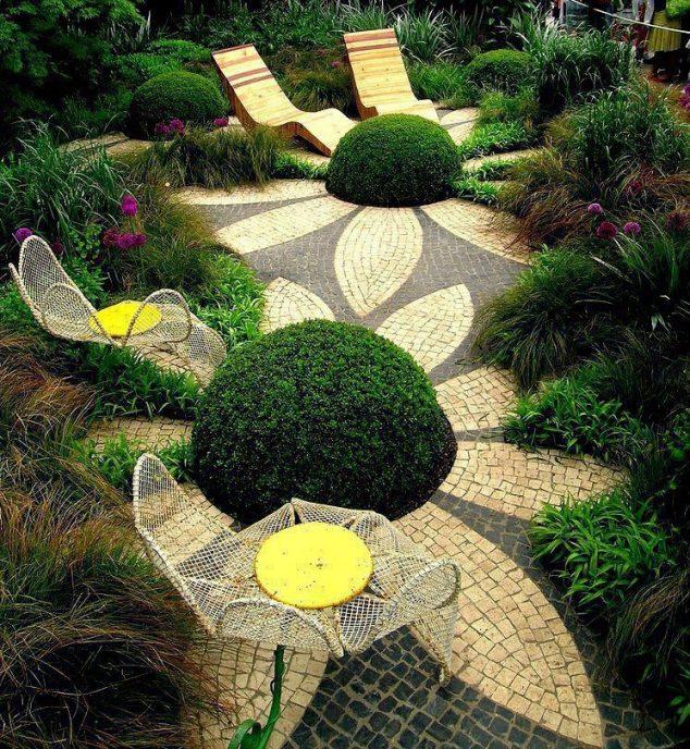 senderos y caminos de piedras en el jardin 1
