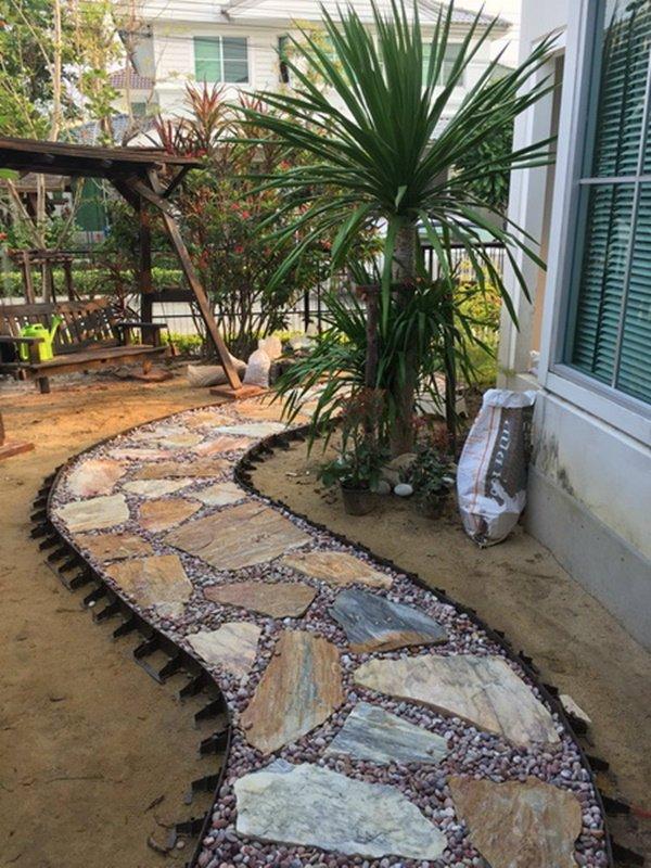 senderos y caminos de piedras en el jardin 10