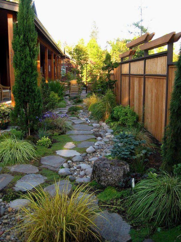 senderos y caminos de piedras en el jardin 12