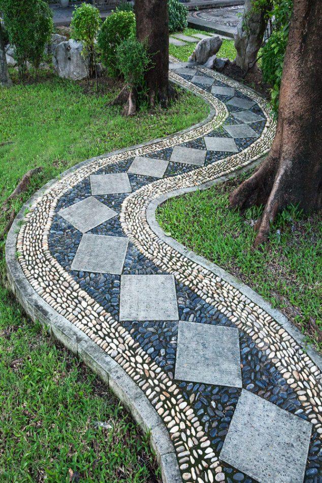 senderos y caminos de piedras en el jardin 15