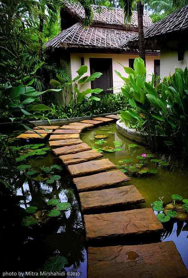 senderos y caminos de piedras en el jardin 4