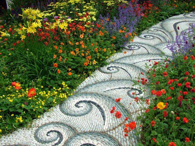 senderos y caminos de piedras en el jardin 6