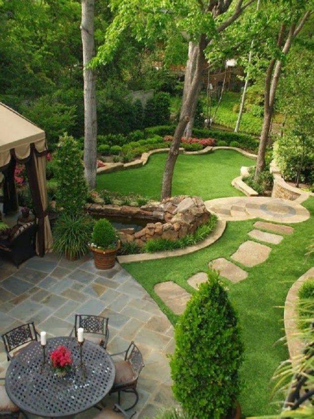 senderos y caminos de piedras en el jardin 7