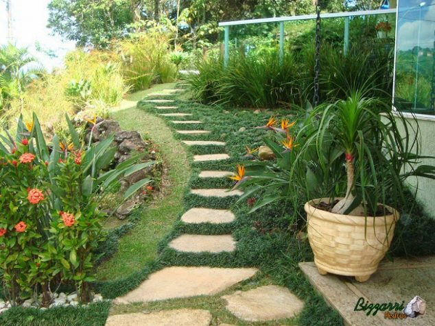 senderos y caminos de piedras en el jardin8
